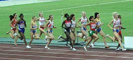De 1500 meter tijdens het WK 2007 te Osaka.