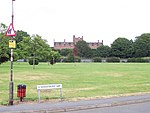 Oscott College. a.k.a. St Mary's Roman Catholic Seminary. Viewed from the new housing estate to the south.