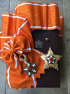 Order of Ouissam Alaouite Moroccan royal decoration