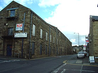 Harle Syke Mill - The Burnley Road frontage of Oxford mill
