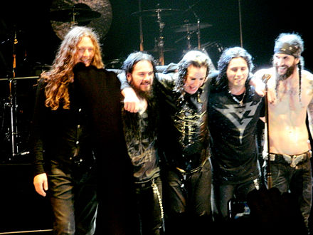 Osbourne (centre) and his touring band in 2011 Ozzy Osbourne band.jpg
