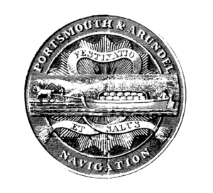 Portsmouth and Arundel Canal - The seal of the Portsmouth and Arundel navigation company