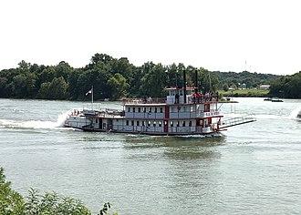 P.A. Denny (ship) - P.A. Denny participating in the 2017 Ohio River Sternwheeler races. Marietta, Ohio September 10th, 2017.