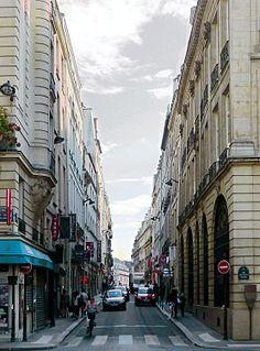 Rue Sainte-Anne street in Paris, France