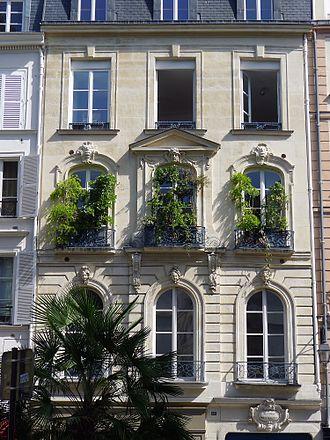 Rue de Seine - Facade of number 57 Rue de Seine