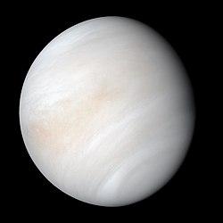 Venus in natürlichen Farben, aufgenommen von Mariner10
