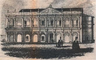 Asunción - Cabildo of Asunción in 1854