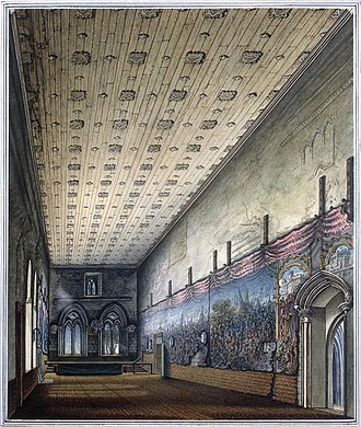 Painted Chamber - The Painted Chamber, watercolour by William Capon, 1799