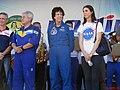 Palco Principal do evento Domingo com o Astronauta, evento comemorativo dos 10 anos do primeiro brasileiro no espaço, o astronauta bauruense Marcos Pontes. Em destaque o astronauta brasileiro e a astronau - panoramio (2).jpg