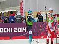 Panfilova & Gwizdoń. Mixed Relay, Sochi 2014.JPG