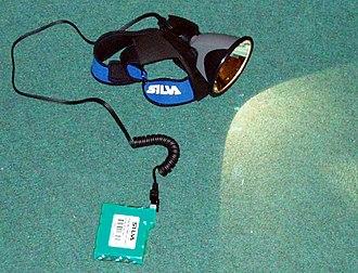 Headlamp (outdoor) - Image: Pannlampa typ orientering