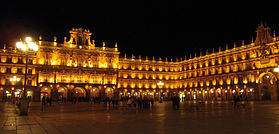 Vue nocturne de la Plaza Mayor
