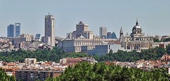 Vista panorámica de la capital española desde el Parque de San Isidro.