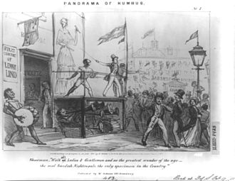 P. T. Barnum - Parody of Jenny Lind's first American tour for P.T. Barnum, New York City, October 1850