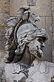 Paris - Les Invalides - Façade nord - Statue de Mars - 002.jpg