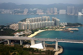 Tsing Ma Bridge - Ma Wan abutment