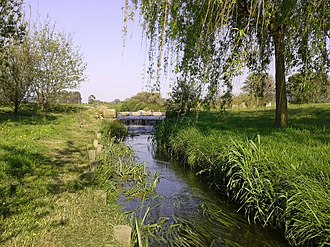 Póvoa de Varzim City Park - The lake's outflow stream.