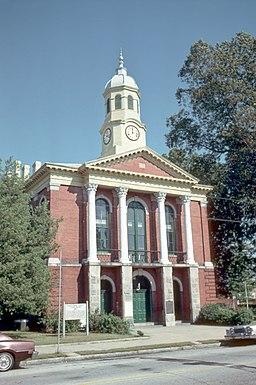 Domstolbygningen i Pasquotank County.