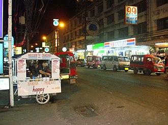 Banana Pancake Trail - Street stall selling banana pancakes in Phuket City, Thailand.