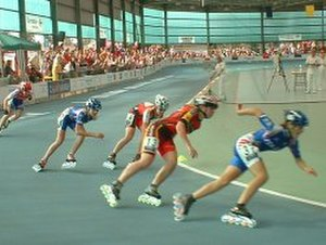 Inline speed skating - Inline skaters competing