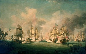 Battles of Barfleur and La Hogue - The Battle of Barfleur, 29 May 1692 by Richard Paton, painted 18th century.