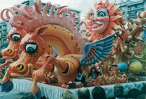 Patras Carnival 1995, The chariot of the sun