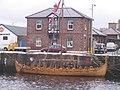 Peel Harbour and Viking ship - geograph.org.uk - 492312.jpg