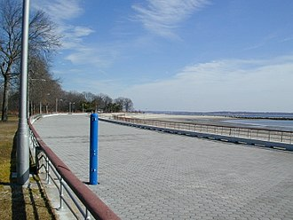 Pelham Bay Park - Orchard Beach promenade, built in the 1930s