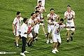 Persepolis F.C. celebrating after 2019–20 Persian Gulf Pro League trophy (39).jpg