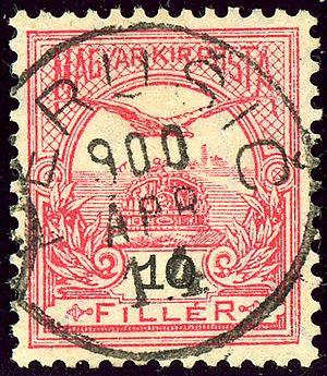 Perušić - Kingdom of Hungary 10 filler stamp cancelled at Perušič in 1900