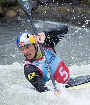 Peter Kauzer - Kauzer at the 2016 European Canoe Slalom Championships