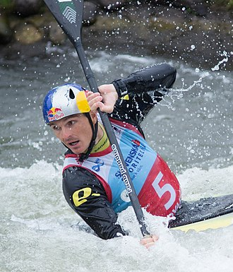 Peter Kauzer - Kauzer at the 2016 European Canoe Slalom Championships