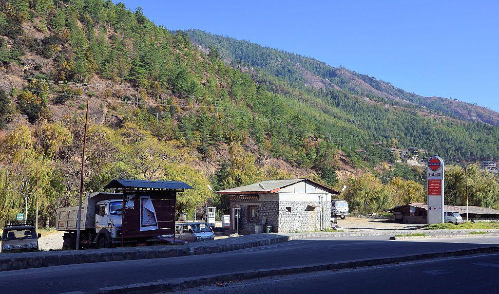 Petrol station, Chubachu, Thimphu