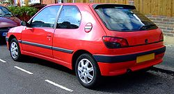 "Peugeot 306 3-door hatchback (""Phase 1""  model)"