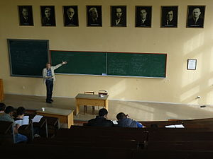 School of Physics and Technology of University of Kharkiv - Lecture by Prof. Korchin on particle physics