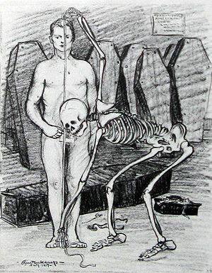 """The Masses - """"Physically Fit"""", a drawing by Henry J. Glintenkamp, published in the magazine in 1917, that was cited in the indictment."""
