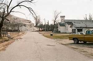 Picher, Oklahoma - The mining waste was located very near neighborhoods in the town, 2008