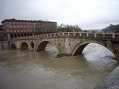 Tiber Island in flood, December 2008