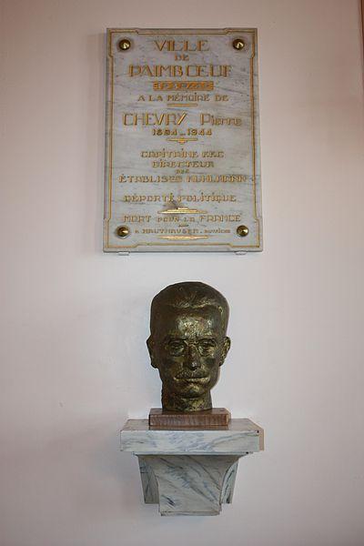 Buste de Pierre Roger CHEVRY, Mairie de Paimboeuf, France