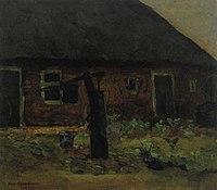 Piet Mondriaan - Brabant farm building with pump - A361 - Piet Mondrian, catalogue raisonné.jpg