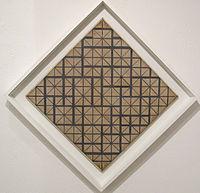 Piet mondrian, composizione con griglia 4 (losanga), 1919.JPG