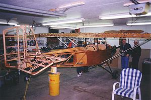 Pietenpol Air Camper - A Pietenpol Air Camper under construction, showing its wooden frame structure.