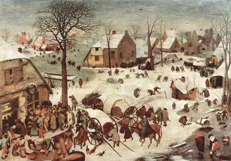 Pieter Bruegel, The Census at Bethlehem, 1566