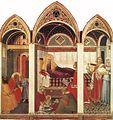 Pietro lorenzetti, natività della vergine del duomo di siena, 1342, tempera su tavola 187x182, museo dell'opera del duomo di siena.jpg