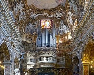 Santa Maria della Vittoria, Rome - Cantoria of the Santa Maria della Vittoria church, decorated by Mattia de Rossi