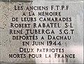 Plaque Robert Rabatel et René Tuberga déportés en juin 1944, 32 Rue du Dauphiné (Lyon).jpg