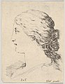 Plate 14- head of a woman, in profile, from 'The Book for Learning to Draw' (Livre pour apprendre à dessiner) MET DP831143.jpg