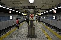 Platform for Sakaisuji Line in Nagahoribashi Station.JPG
