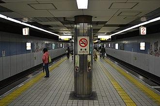 Nagahoribashi Station - Nagahori Tsurumi-ryokuchi Line platform