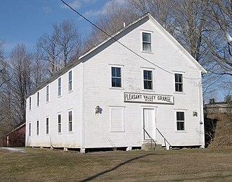 Rockingham, Vermont - Pleasant Valley Grange Hall, next to the Rockingham Meeting House